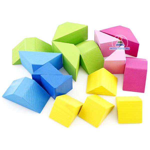 Конструктор «Цветные треугольники», Томик (16 деталей)