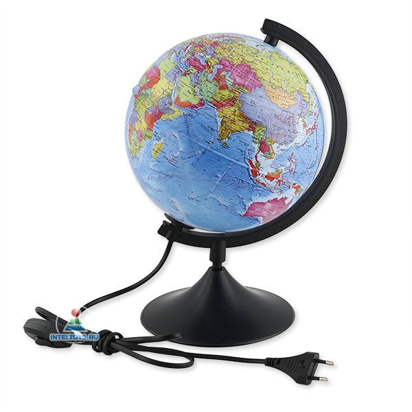 Глобус настольный с подсветкой политический 21 см, Классик Globen (Глобен)