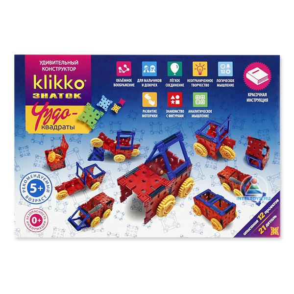 Конструктор Кликко (Klikko) Знаток «Чудо-квадраты» 12 в 1 (21 деталь)