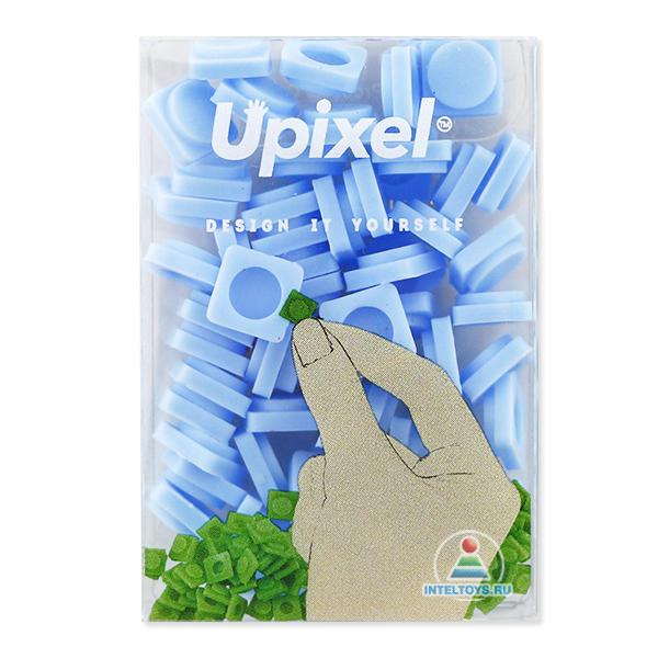 Маленькие пиксельные фишки голубые, Upixel (Юпиксель)