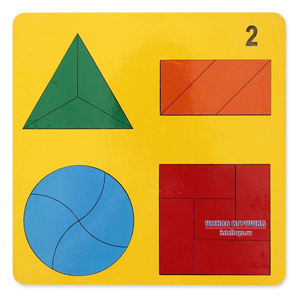Головоломка «Геометрические фигуры – Веселая геометрия» №2, Оксва