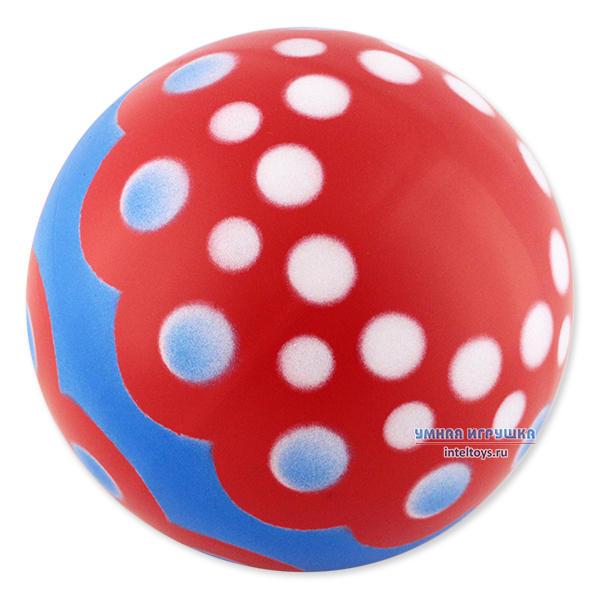 Мяч из резины лакированный (диаметр 20 см), Снегирь