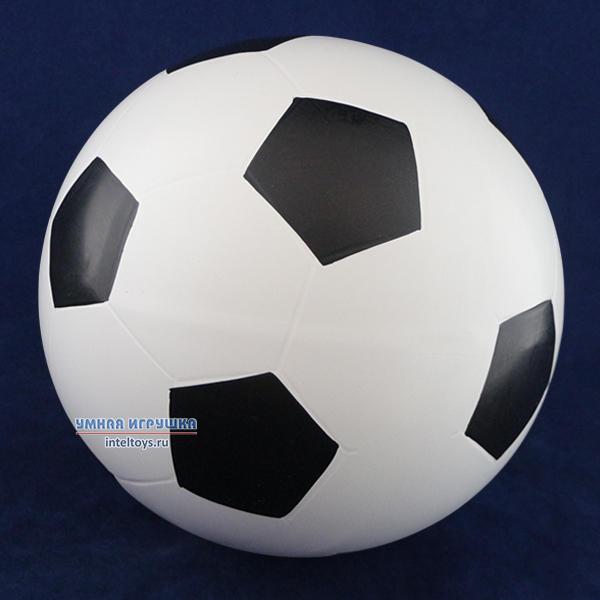Резиновый футбольный мяч (диаметр 20 см), Снегирь
