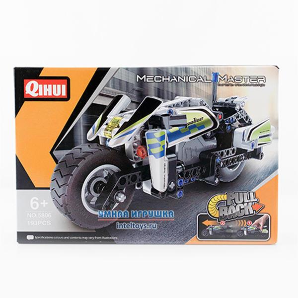 Инерционный конструктор «Полицейский мотоцикл», 193 детали, Qihui (Чихуэй)