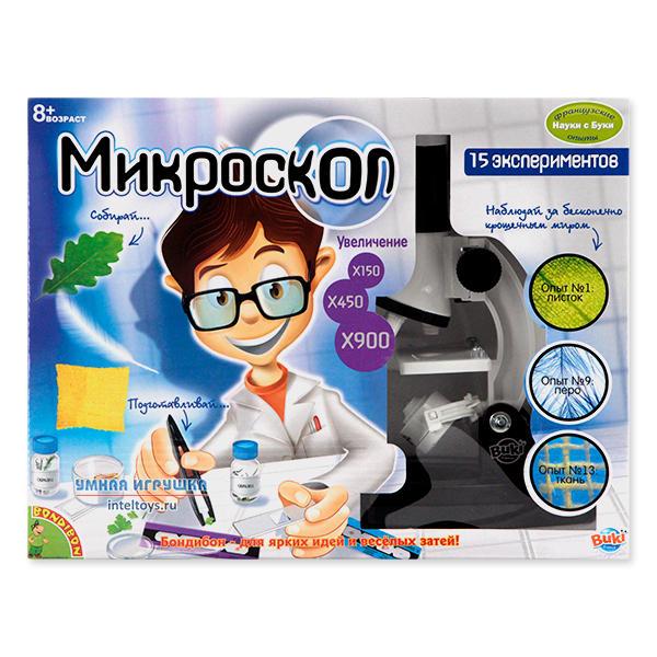 Микроскоп (15 экспериментов), Науки с Буки, Bondibon (Бондибон)