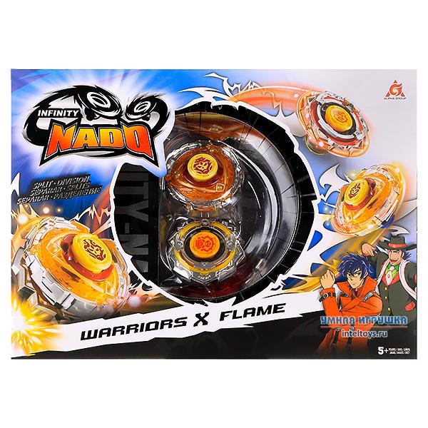 Игровой набор «Инфинити Надо – Сплит 2 волчка, Warriors&Flame», Infinity Nado