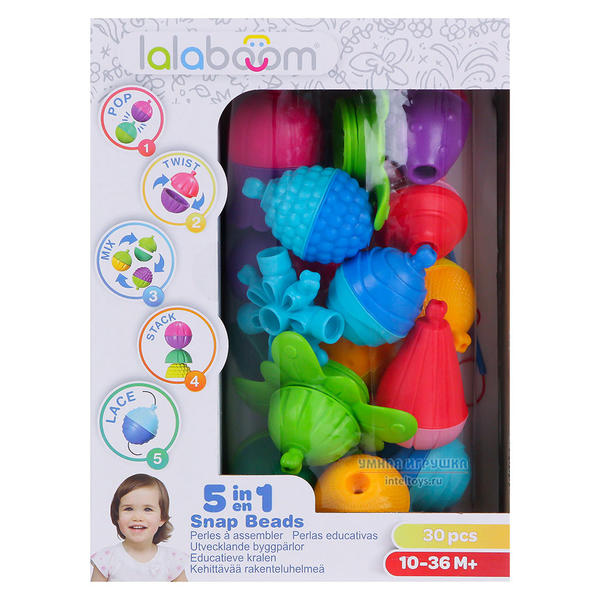 Развивающая игрушка «Lalaboom», 30 предметов
