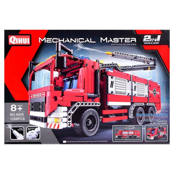 Конструктор «Пожарная машина» 2 в 1, Qihui (Чихуэй), 1288 деталей