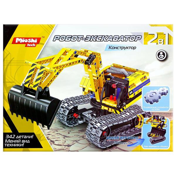 Конструктор Mioshi Tech «Робот-Экскаватор», 342 детали