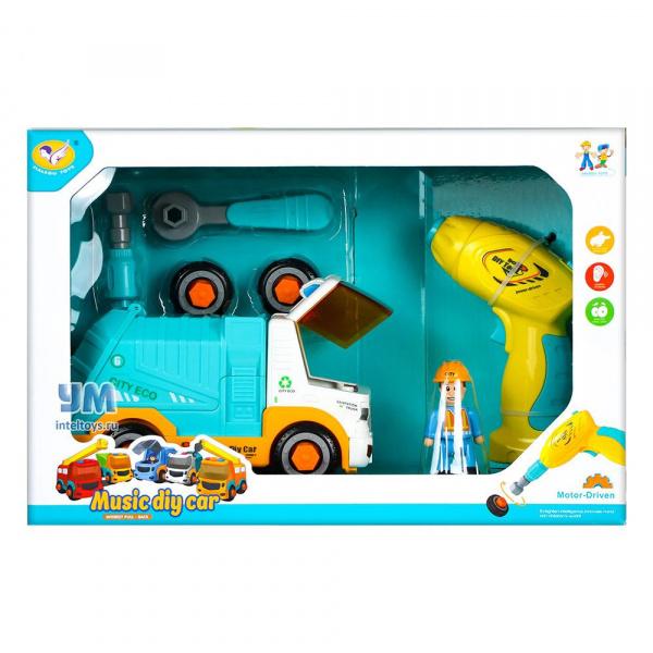 Игровой набор «Мусоровоз» с шуруповертом, Jialegu Toys, 34 см