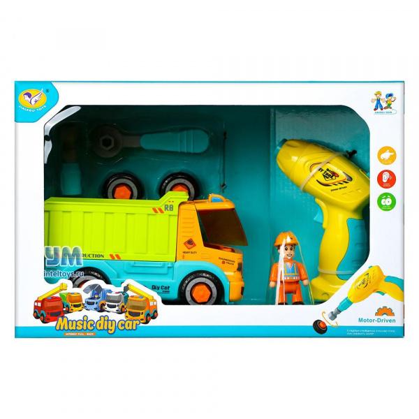 Игровой набор Jialegu Toys с шуруповертом «Самосвал», 34 см