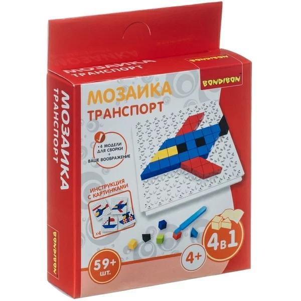 Мозаика «Транспорт», Bondibon (59 деталей)